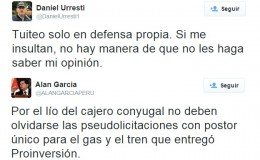 Urresti y Cateriano protagonizan guerra de tuits con García y dirigentes apristas