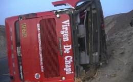 Nueve fallecidos tras el vuelco de un bus interprovincial en Nasca