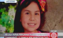 EE.UU.: niña peruana murió en su primer día de campamento