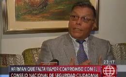 Pérez Rocha: Falta mayor compromiso con el Consejo Nacional de Seguridad Ciudadana
