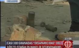 """Exclusivo: granadas """"desaparecidas"""" del Ejército estarían en manos de extorsionadores"""