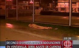 Ventanilla: adolescente muere de 5 disparos por posible ajuste de cuentas
