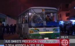 Ventanilla: bus embistió anda del Señor de los Milagros en plena procesión
