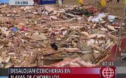 Chorrillos: destruyen puestos de comida en playa Agua Dulce