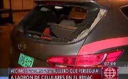 Rímac: vecinos atacan a pedradas a policías que perseguían a un delincuente