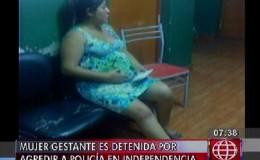 Detienen a mujer embarazada por agredir a una policía de Tránsito
