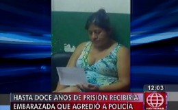 Mujer embarazada podría pasar hasta 12 años de prisión por golpear a una policía