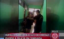Huánuco: sujeto en estado de ebriedad mordió a un policía y lo dejan libre