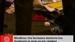 Miraflores: hermanos murieron tras chocar contra u...