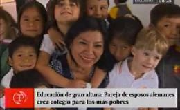 Apurímac: pareja de esposos alemanes construye colegio para los más pobres