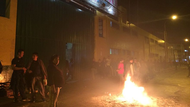 La Victoria: violento desalojo en Mercado de Frutas deja cinco heridos
