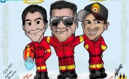 Facebook: dedican emotiva caricatura a los bomberos fallecidos