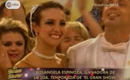 Rosángela Espinoza es la ganadora de El Gran Show