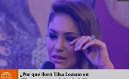 Tilsa Lozano lloró en entrevista tras contar delicado episodio