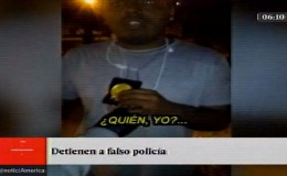 Detienen a falso policía cuando intervenía a un vehículo en Ate