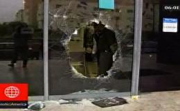 Delincuentes robaron local de Movistar en San Borja