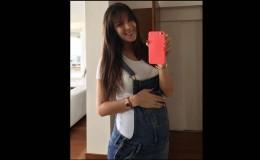 Silvia Cornejo compartió fotos de su avanzado embarazo
