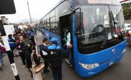 Corredor Azul: pasajeros en desacuerdo por incremento del pasaje