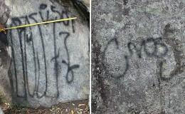 Cusco: denuncian pintas realizadas en muros incas camino a Machu Picchu