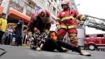 Mesa Redonda: realizan simulacro de incendio por campaña navideña - Noticias de simulacro