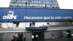 ONPE: Urge aprobar reforma electoral antes de convocar a comicios del 2018 - Noticias de onpe