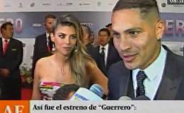 Paolo Guerrero y Alondra García Miró se lucieron en alfombra roja de 'Guerrero'