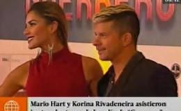 Mario Hart y Korina Rivadeneira asistieron juntos al estreno de 'Guerrero'