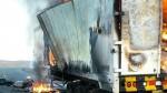 Huarmey: camión que transportaba papel se incendió en la Panamericana Norte - Noticias de huarmey