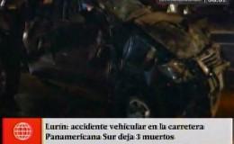 Lurín: tres muertos y dos heridos tras volcadura de camioneta