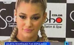 Julieta Rodríguez hizo este comentario tras ser expulsada del Perú