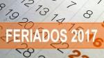 Feriados 2017: conoce los 13 días no laborables de enero a diciembre - Noticias de julio rosas