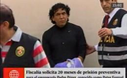 Peter Ferrari: Fiscalía pidió 20 meses de prisión preventiva