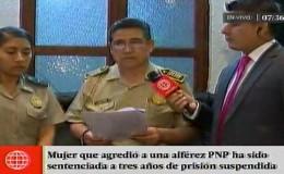 Chorrillos: mujer que mordió a policía femenina recibió prisión suspendida