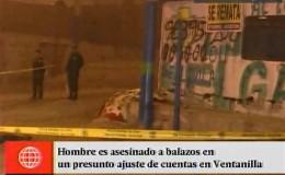 Ventanilla: hombre es asesinado a balazos en aparente ajuste de cuentas