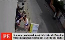 El Agustino: ladrón olvidó mochila con su DNI tras asalto