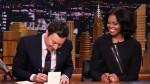 YouTube: así se despidió Michelle Obama de sus seguidores en el programa de Jimmy Fallon - Noticias de stevie wonder