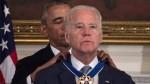 Obama hace llorar a Biden entregándole la máxima condecoración civil - Noticias de romance