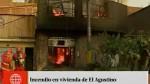 Incendio se registra en vivienda de El Agustino...