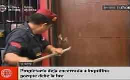 Surco: Policía rescata a mujer y niños encerrados en inmueble