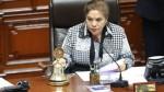 Caso Odebrecht: Luz Salgado pidió celeridad al Ministerio Público - Noticias de lima gem romero