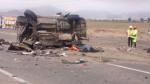 Chancay: dos policías fallecidos tras choque entre tráiler y patrullero - Noticias de accidente