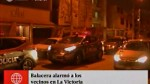 Balacera alarmó a vecinos en La Victoria...
