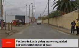 Lurín: vecinos denuncian falta de seguridad en la zona