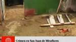 San Juan de Miraflores: tres personas fueron apuña...