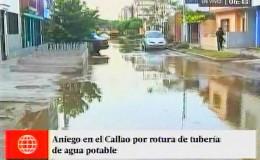 Callao: decenas de vecinos resultaron afectados tras rotura de tubería