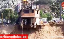 Río Rímac: casa de 2 pisos está a punto de caer ante crecida del caudal
