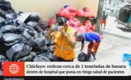 Chiclayo: más de 2 toneladas de basura se acumularon en hospital Las Mercedes