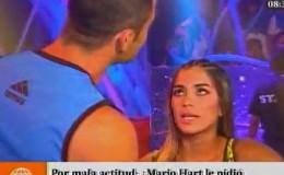 Lucas Piro le ofreció disculpas a Korina Rivadeneira detrás de cámaras