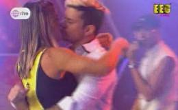 Mario Hart y Korina Rivadeneira se besaron tras romántica sorpresa