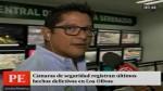 Los Olivos: cámaras de seguridad permiten capturas...